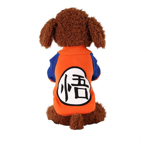 Sweat dragon orange pour chien