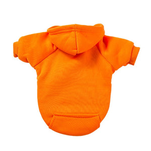 Sweat Capuche pour chien - Uni - Orange