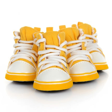 Chaussures pour chien - Sneakers - Jaune