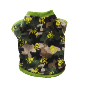 Pull pour chien - Polaire - Vert Camouflage