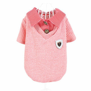 Pull chemise rose pour chien