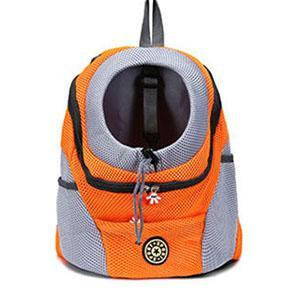 Sac a dos transport chien orange