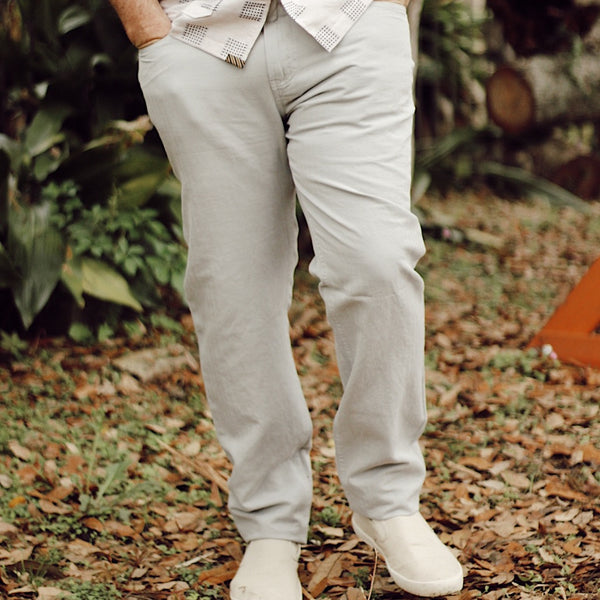 Cotton Linen 5 Pocket Pant Quarry