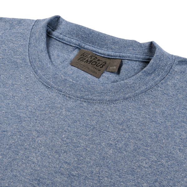 Circular Knit T-Shirt Heather Blue