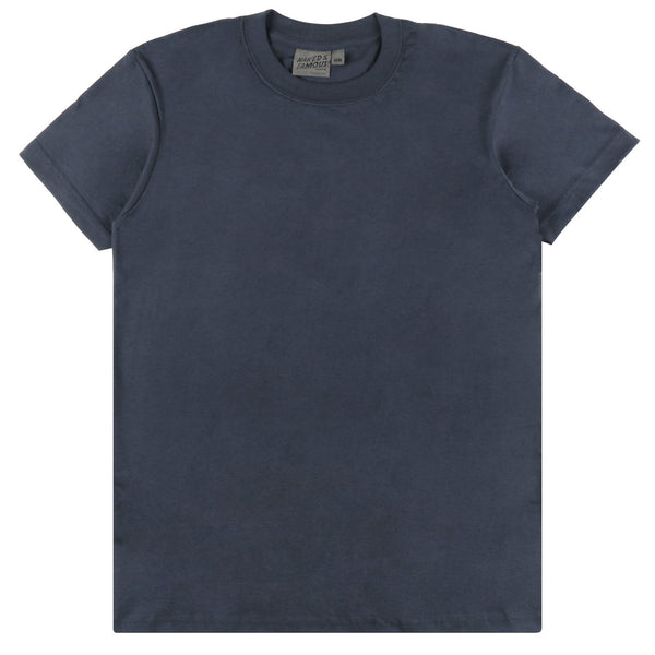 Circular Knit T-Shirt Navy