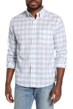 Stretch Summer Blend Regular Fit Buffalo Check Shirt