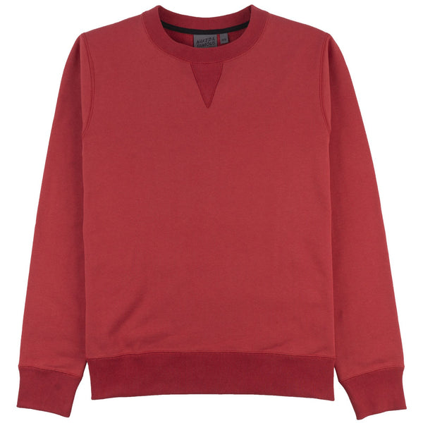 Crewneck Sweatshirt- Heavy Knit-R Red