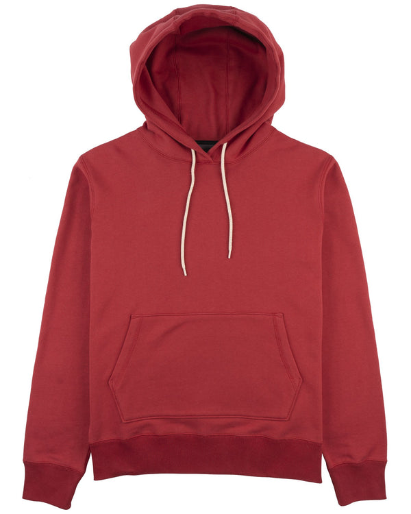 Pull Over Hoodie- Heavy Knit- Red
