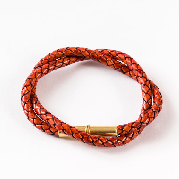 Flint Braided Bracelet Saddle Tan