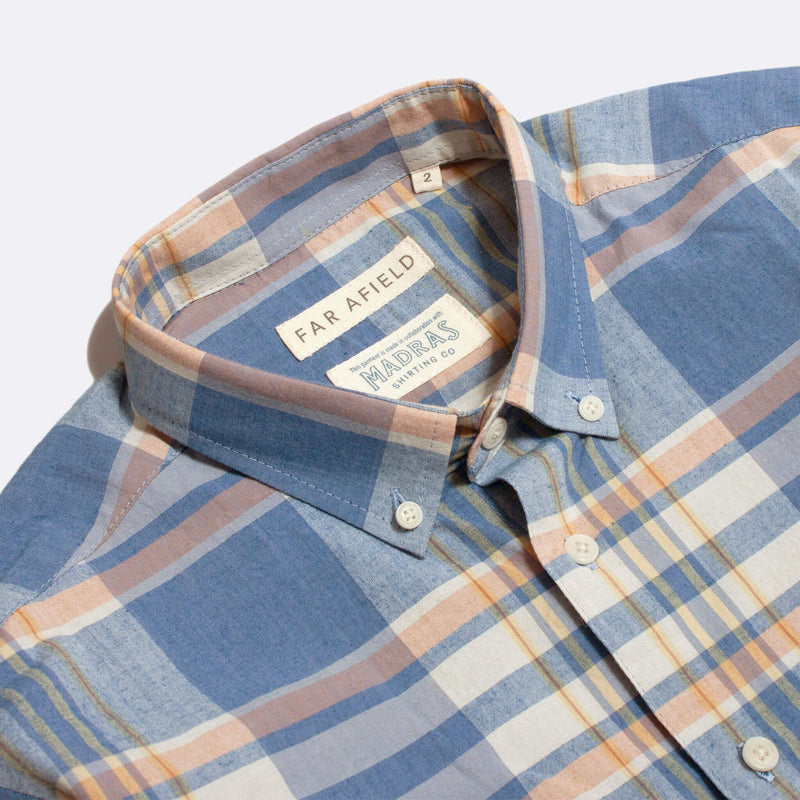 Far Afield x Madras Shirting Co' Casual Button Short Sleeve Shirt