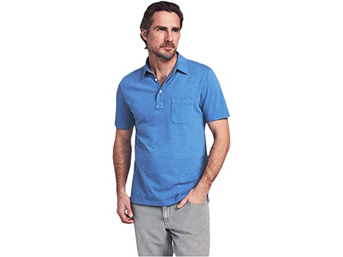 Faherty Sun Washed Polo Azure