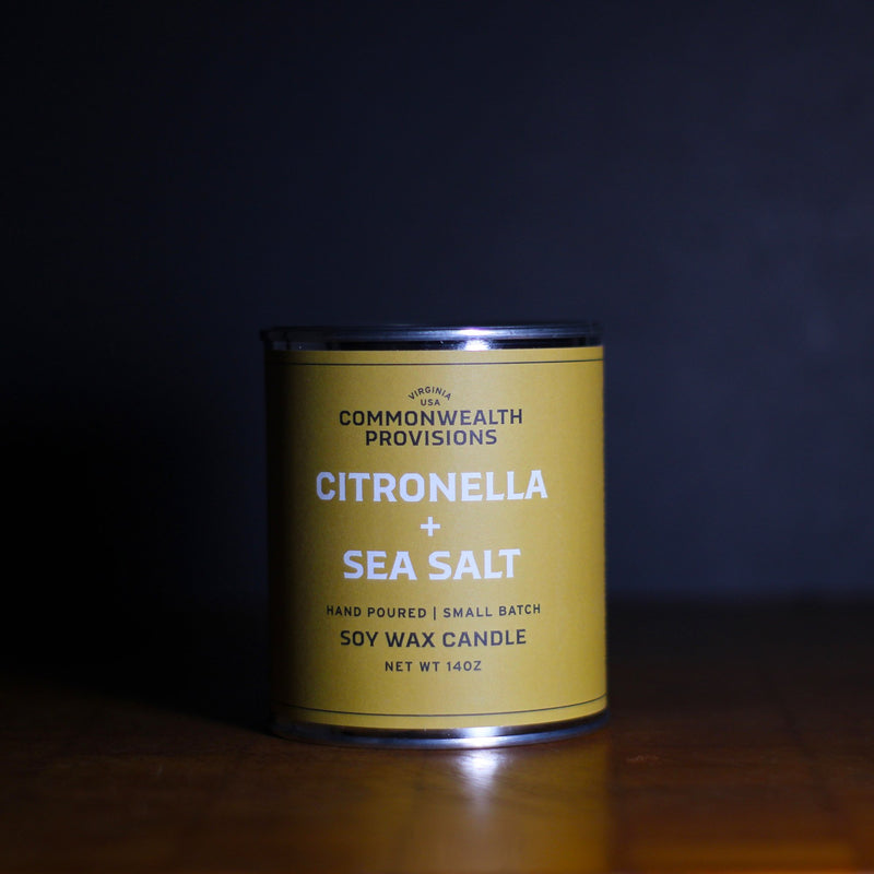 CITRONELLA + SEA SALT CANDLE