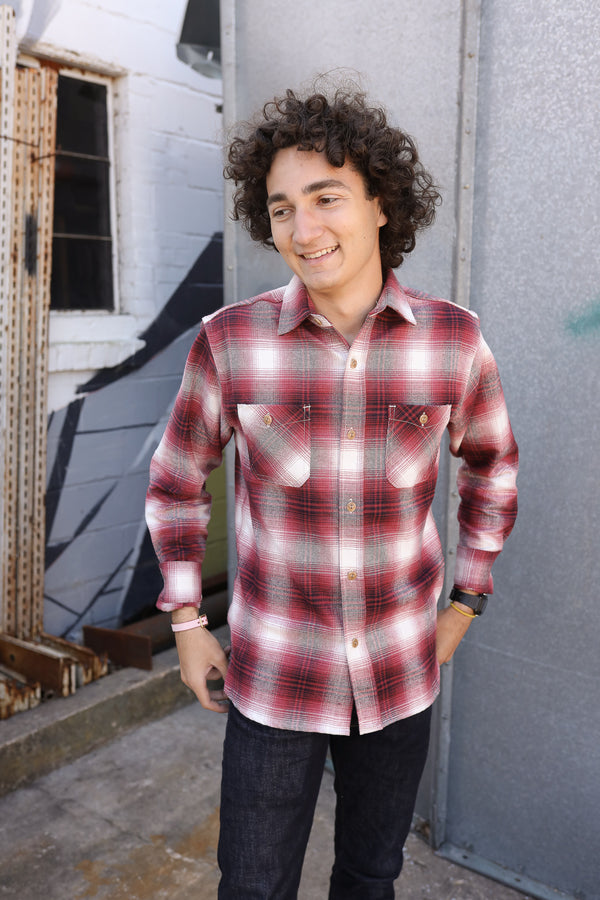 Utility Shirt Red Brushed Flannel