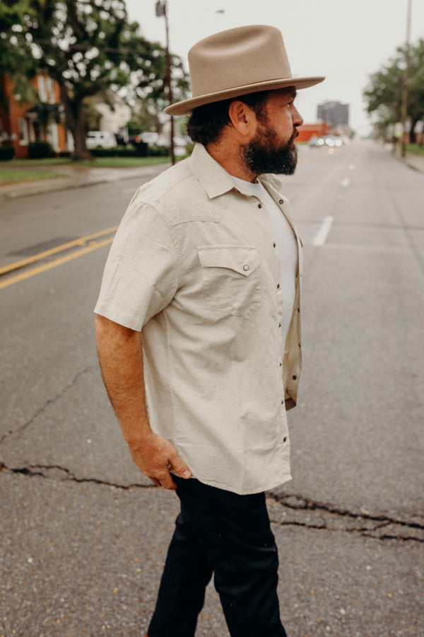 Short Sleeve Western in Natural