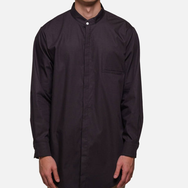SHOREDITCH TUNIC IN BLACK POPLIN