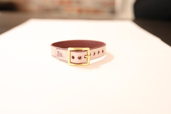 Ghost Burgundy Leather Bracelet