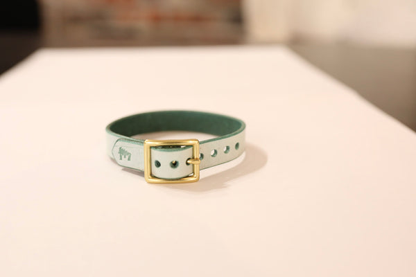 Ghost Green Leather Bracelet