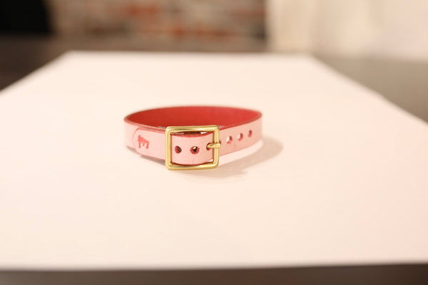Ghost Pink Leather Bracelet