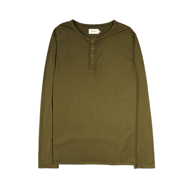 Basic Henley Dark Olive