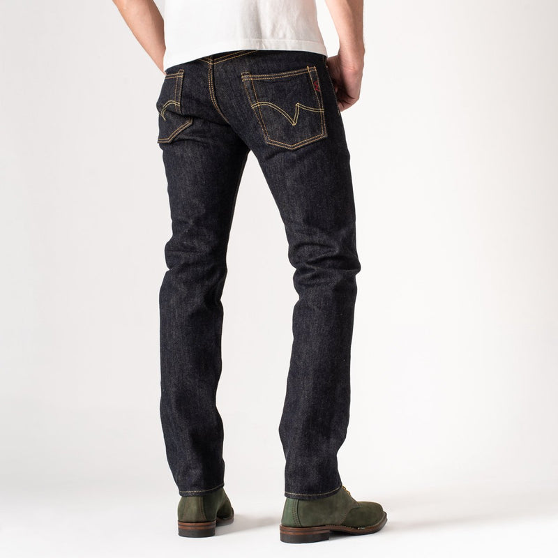 IH-777S-21 | Iron Heart 21 oz Selvedge Denim Super Slim Tapered Jeans - Indigo