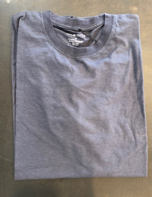 The Standard Cotton Hemp Tee in Navy