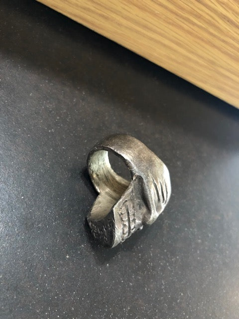 Big Eye Skull Ring Bronze
