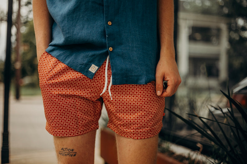 Printed Swimshorts Hip Square