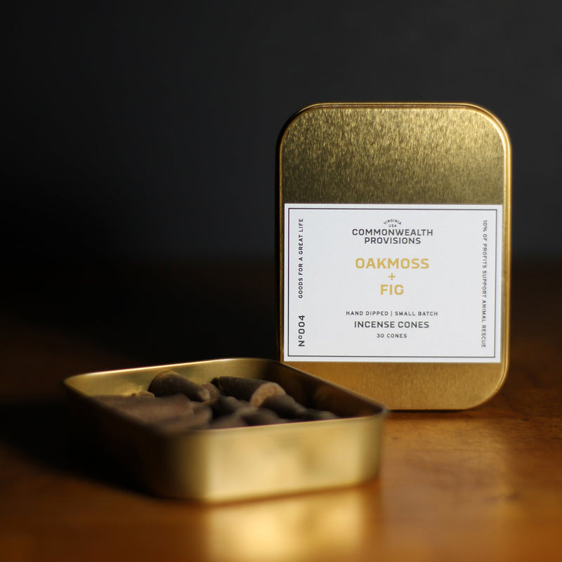 Oakmoss + Fig Incense Cones