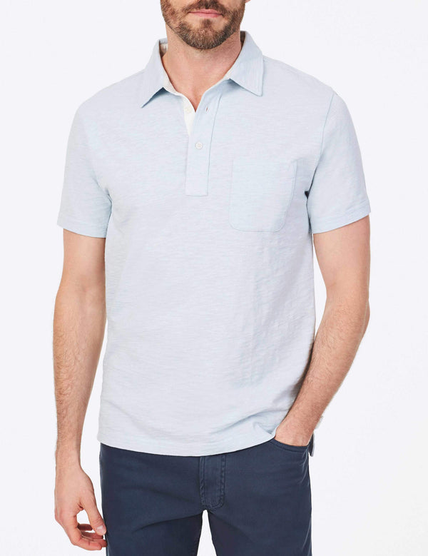 Bleecker Polo Light Blue Heather