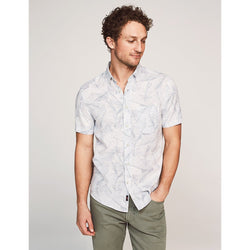 Playa Shirt Ivory Leaf