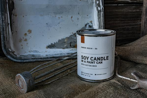 PAINT CAN CANDLE 06 | AMBER RESIN | MANREADY MERCANTILE