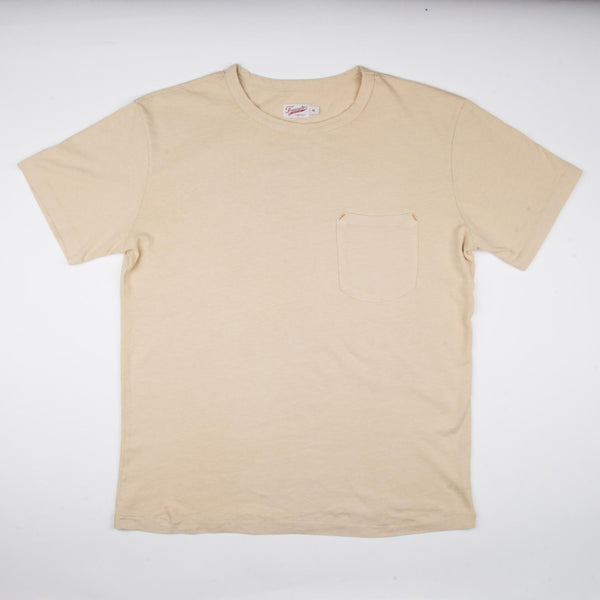 9 oz Pocket T-Shirt Cream