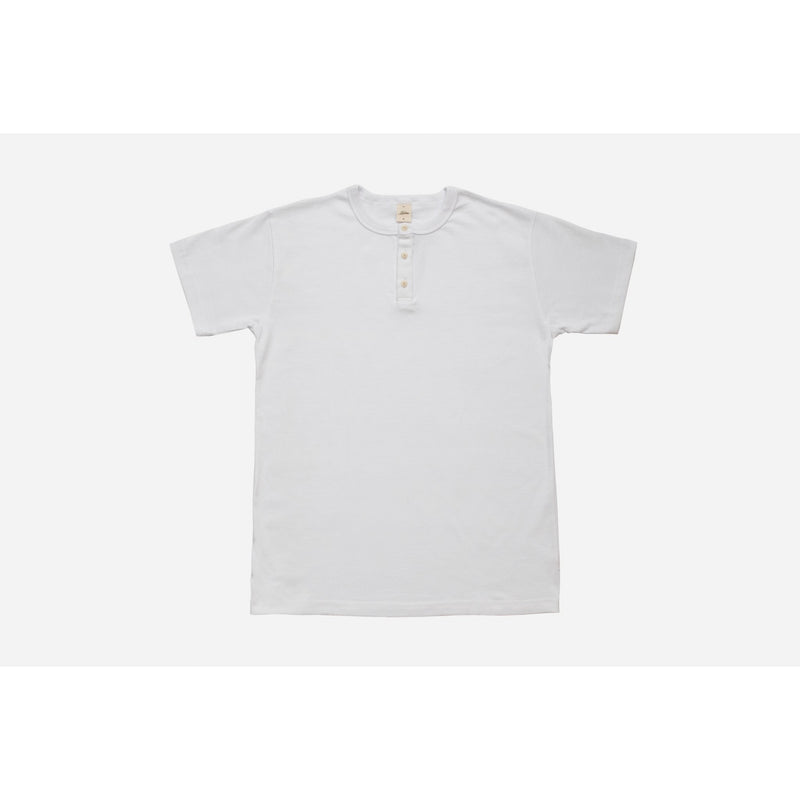 Short Sleeve Henley White