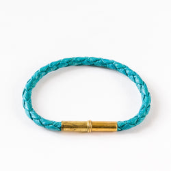 Flint Single Waxed Canvas Bracelet Turquoise