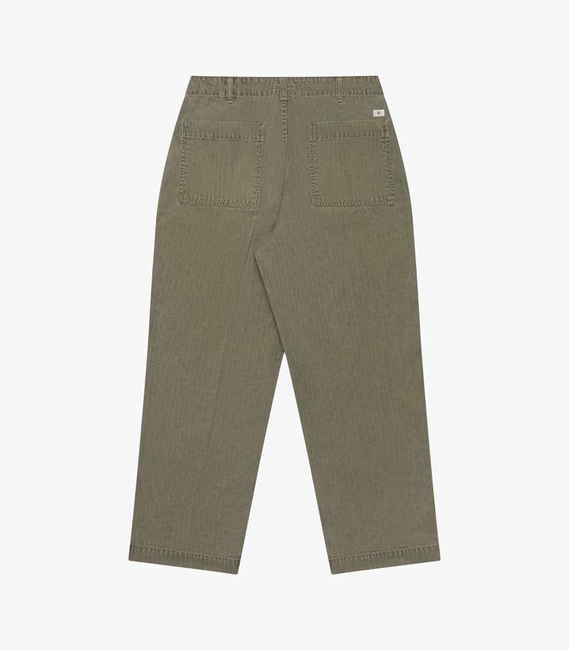 Patch Pocket Trouser Pigment HBT - Olive