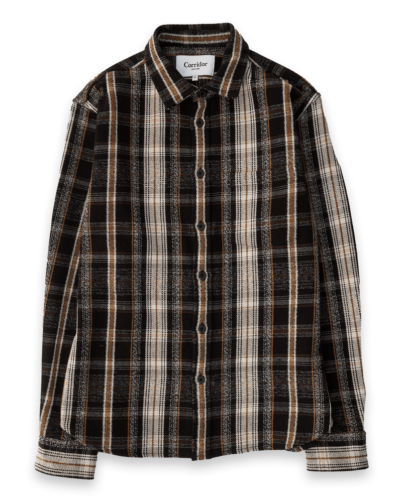 Black Mustard Plaid LS