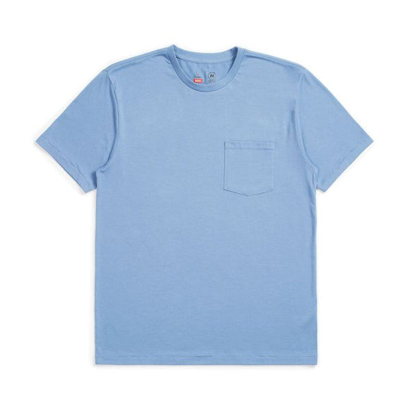 Basic S/S Pocket Tee - Slate Blue