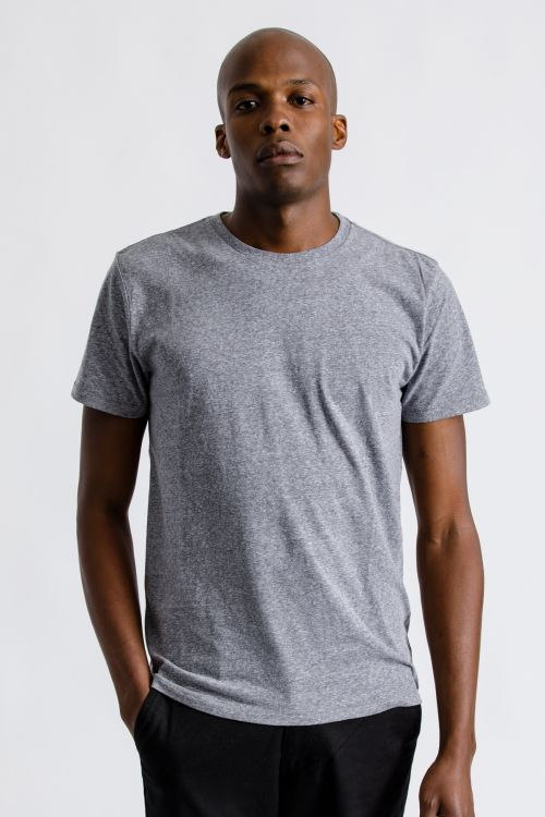 Basic S/S Premium Tee - Heather Grey