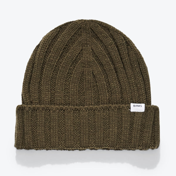 BE0058  DROWN BEANIE  UTILITY GREEN
