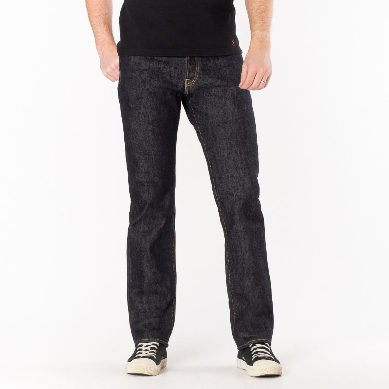 888 21oz Selvedge Denim Medium/High Rise Tapered Cut Jeans - Indigo