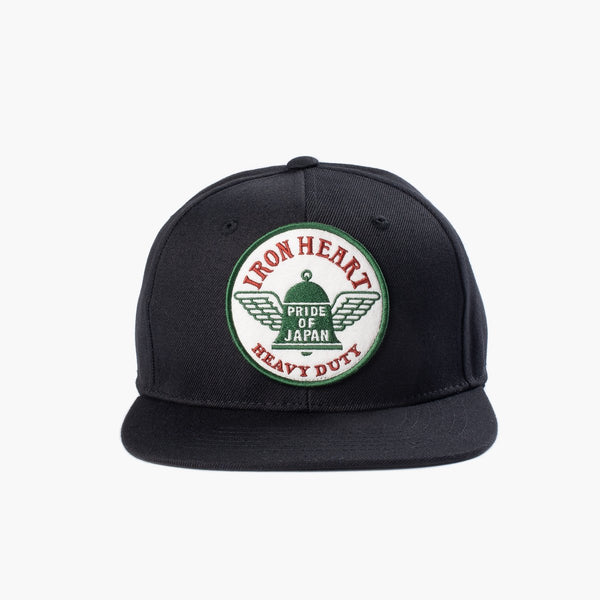 Iron Heart Snapback Cap - Black