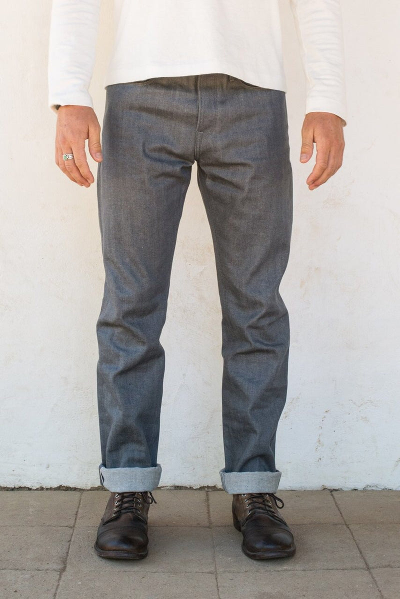 PORTOLA TAPER 13OZ GREY DENIM