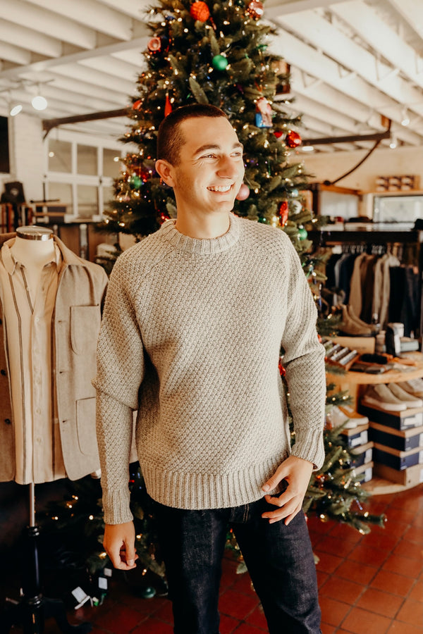 The Fisherman Sweater in Heather Ash