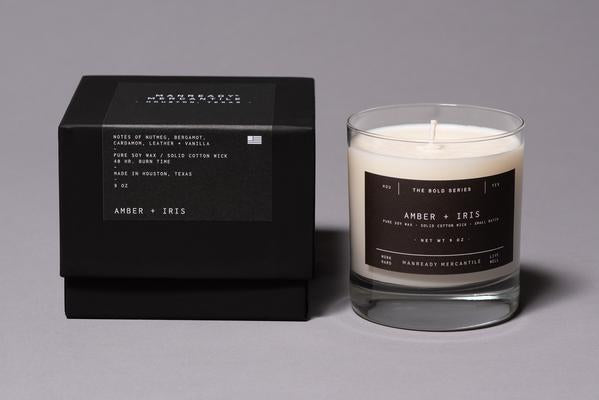 THE BOLD SERIES SOY CANDLE | AMBER + IRIS | MANREADY MERCANTILE