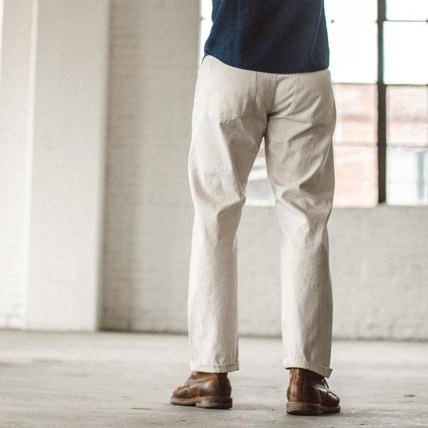 The Camp Pant in Natural Selvage