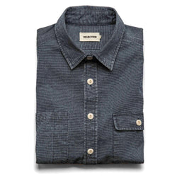 The Moto Utility Shirt in Indigo Pindot