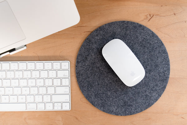 Introducing: Grey Felt Mouse Pad With Non-Slip Backing