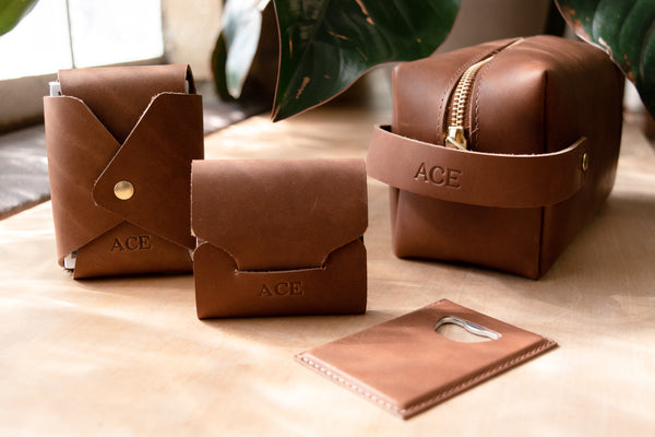 Personalized Leather Groomsman Gifts