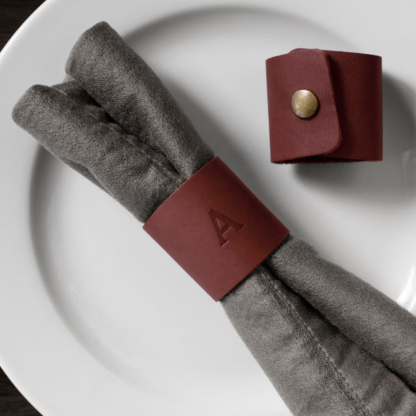 Personalized Leather Napkin Rings
