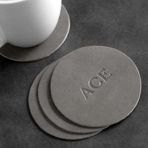 Work From Home Custom Leather Coasters